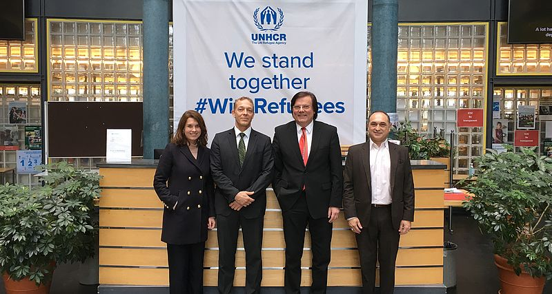 The UNHCR in Geneva hosting IB's delegates
