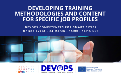 """All Digital Week 2021 – """"Developing training methodologies and content for specific job profiles"""" Webinar – 24 March 2021 (15:00 – 16:15) (CET)"""