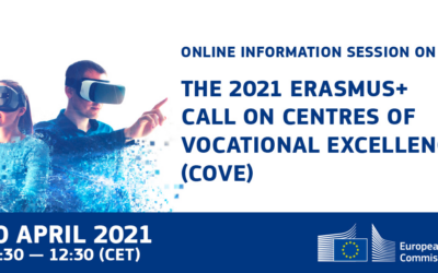 NOT TO MISS: Online information session on the 2021 Erasmus+ call on Centres of Vocational Excellence (CoVE)