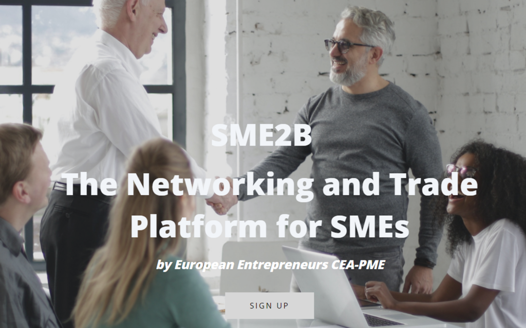 SME2B – The Networking and Trade Platform for SMEs … and VET Providers!